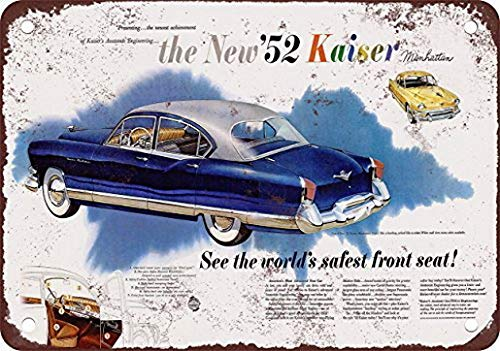 yuehdss 1952 Kaiser Manhattan Wall Decor Metal Tin for sale  Delivered anywhere in Canada