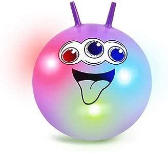 Tobar 29672 - Bola para Saltar con Luces, Color neón: Amazon.es ...