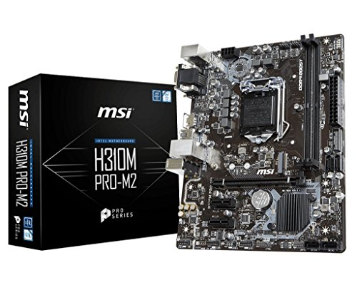 MSI Pro Series Intel Coffee Lake H310 LGA 1151 DDR4 Onboard Graphics Micro ATX Motherboard (H310M Pro-M2) by MSI