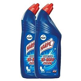 Harpic Powerplus Disinfectant Toilet Cleaner, Original, 1 L (Pack of 2)