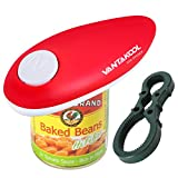 Electric Can Opener, Can Opener Smooth Soft Edge with One-Touch Hands Free Can Opener for Kitchen Restaurant and Arthritic (red-2)