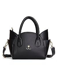 TWOPAGES Top Handle Satchel Handbags Cute Cat Cross Body Shoulder Bag for Girls/Womens