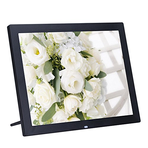 Minidiva 15Inch 4:3 Digital Photo Frame – 1024×768 High Solution Electronic Picture Frame with USB,USB mini,SD Interface(Black)