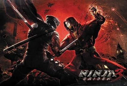 Ninja Gaiden 3 (2012) Video Game Poster Size 24x35 Inch J-4440