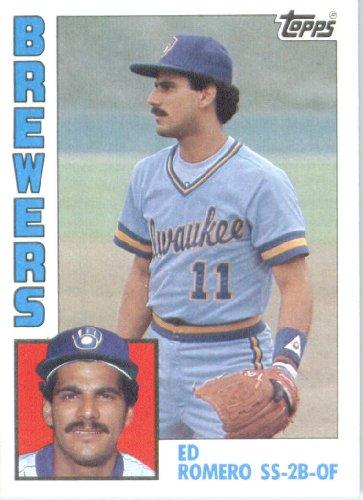 Topps 1984#146 Ed Romero Milwaukee méthylène Baseball Card
