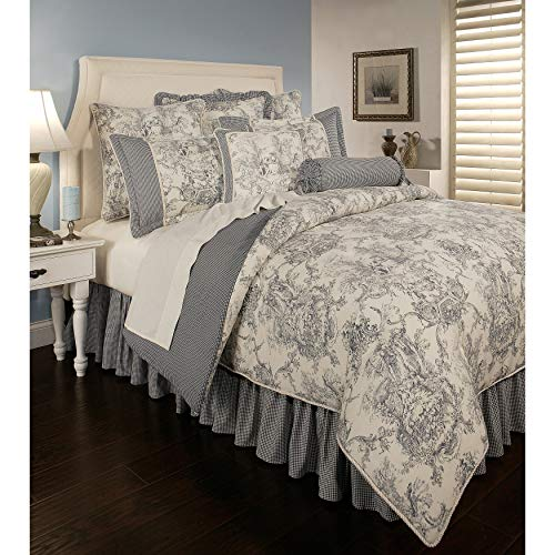 Toile Neckroll - Sherry Kline PCHF Country Toile Blue 6-Piece Comforter Set Queen