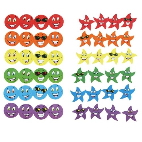 Wholesale CASE of 15 - Trend Stinky Stickers Jumbo Variety Pack-Stinky Stickers, Smiles/Stars, Photo Safe, 648 ()