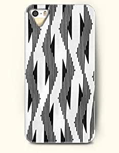 OOFIT Aztec Indian Chevron Zigzag Native American Pattern Hard Case for Apple iPhone 5 5S ( iPhone 5C Excluded ) ( Black Chevron And Triangles )