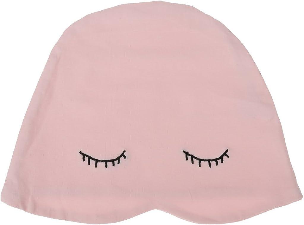 Bonnet de Nuit Coton Multiusage avec Masque des Yeux Chapeaux de Sommeil Tricot/és pr Homme Femme