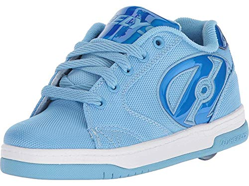 Heelys Girls' Propel 2.0 Tennis Shoe, Light ballastic/Blue Hologram, 2 M US Big Kid