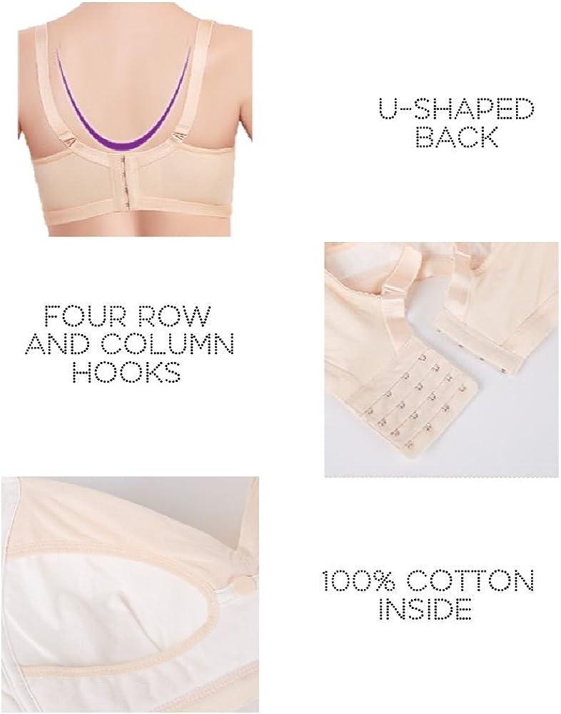 Lightly Padded Supportive Breastfeeding WonderMoms Wireless Lace Nursing Bra