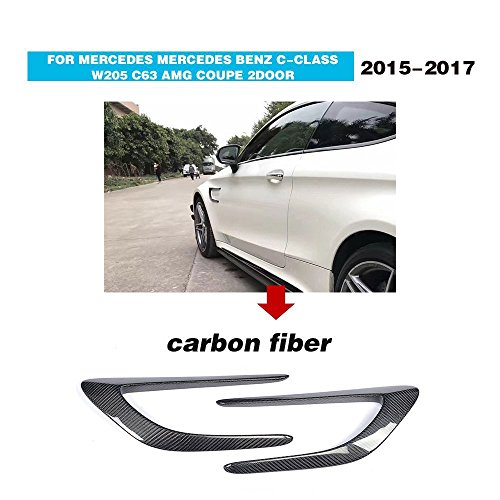 For 2015 2016 2017 Mercedes Benz C-Class W205 C205 C63 AMG Coupe Facelift Carbon Fiber Top Fit Side Fender Vents Air Intake Covers