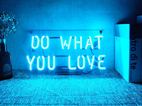 Neon Signs Do What You Love Neon Light Sign Led Neon Lamp Neon Wall Lights Art Neon Sign Custom Neon Words for Home Room Bedroom Decor Beer Bar Garage Office Halloween Party Wedding Holidays (Wall Led Art Halloween)