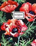 Poppies Notebook: Poppy Flowers Notebook, 8.5 x 11