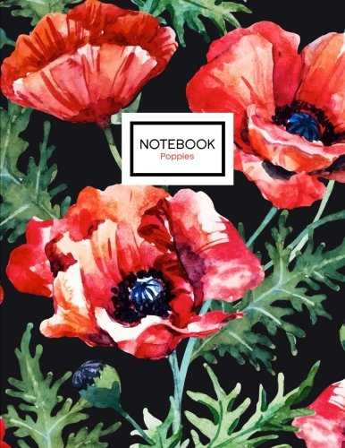 Poppies Notebook Poppy Flowers 8 5 product image