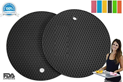 Silicone Pot Holders Set of 2 Premium He - Black Silicone Pot Holder Shopping Results