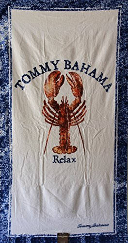 """Tommy Bahama """"Relax Lobster"""" Beach Towel - 66"""" X 35"""" - 100% Cotton"""