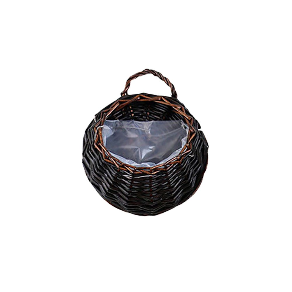 Plant Flower Basket ,Handmade Planter Wicker Braided Hanging Plant Basket for Home Garden Wall and Wedding Decoration(L,#4)