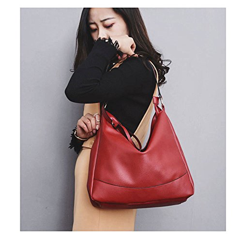 Shoulder Satchel Red Top Bags PU Wind Tote Women Bag Messenger Handle Handbags Leather Bags Purse qtAgx4T