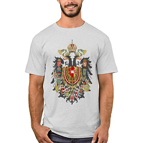 Zazzle Men's Basic T-Shirt, Austria Hungary Coat of Arms T-Shirt, Ash (Austria Coat Of Arms)