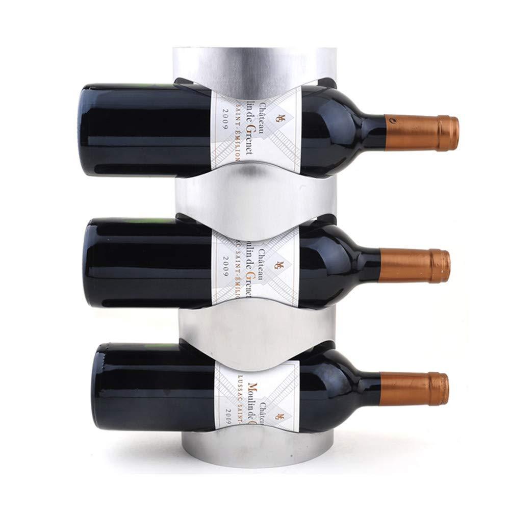 Stainless Steel Wall Mounted Wine Racks Bar Decor Wine Bottle Holder 3 Bottles