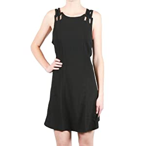Free People Sleeveless Cutout Grommet Accent Baby Love Mini Dress