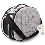 MiNiPet Portable Dog Travel Carrier Cat Cage Soft-Sided Airline Approved Tote Outdoor Shoulder Handbag Pet Bag Grey