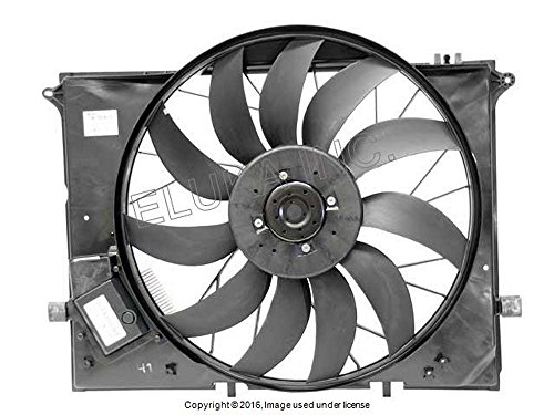 Mercedes-Benz Radiator Auxiliary Fan Assembly (Includes Shroud) CL500 CL55 AMG CL600 CL65 AMG S350 S430 S500 S55 AMG S600 S65 AMG SL55 AMG SL600 SL63 AMG SL65 AMG
