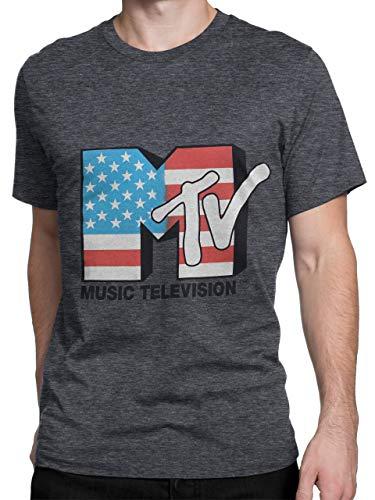 MTV Mens' T-Shirt Medium Gray ()