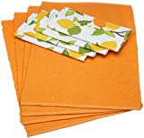 Design Imports DII Citrus Blossom Placemats and Printed Napkins Kitchen Linen Set, Set of 4