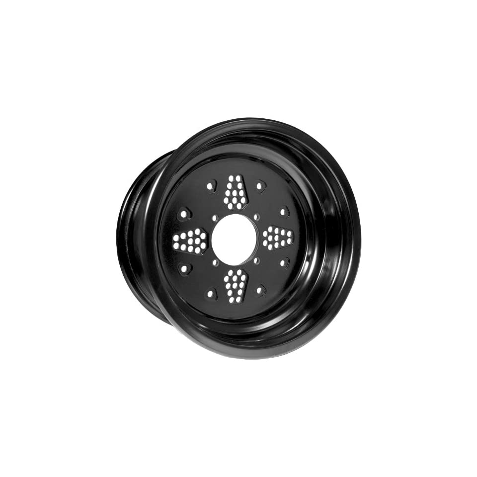 Douglas Wheel Rok N Lock Double Rolled Utility Wheel   14x7   2+5 Offset   4/156   Black , Color Black, Wheel Rim Size 14x7, Rim Offset 2+5, Bolt Pattern 4/156, Position Front/Rear RO14072556BLK