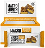 BULK POWDERS Macro Munch Protein Bar, Magnificent Millionaires Shortbread, 62 g, Pack of 12
