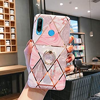 MoreChioce Compatible with Huawei P30 Pro Silicone Case Marble Design Cover,Flexible TPU Bumper Plating Drop Protective Case,Slim-Fit Anti-Scratch with Stand Holder,Color #01