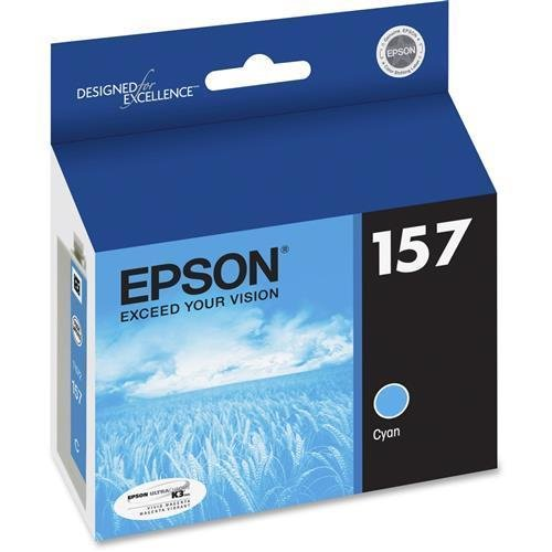 T157220 Epson UltraChrome K3 T157220 Ink Cartridge - Cyan - Inkjet - 1 Each