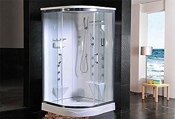 Cabina doccia idromassaggio sauna bagno turco 110x110: Amazon.it ...