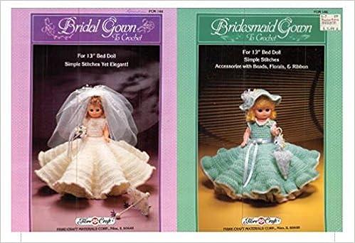 Bridal Gown Fcm144 Bridesmaid Gown Fcm146 Fibre Craft Crochet