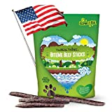 The Real Thing Natural & Delicious Gourmet Beef Jerky Dog Treats. Made in USA using a Family Recipe. Great for Large and Small Dogs. USA Beef Sticks that are Cured, not Cooked or Dried. For Sale