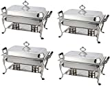 4 Pack Royal Rectangular Crown Chafing Dish Sets Food Warmers 8-Quart $20 Rebate
