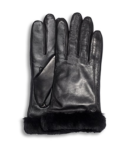 UGG Women's Classic Leather Smart Glove Black SM