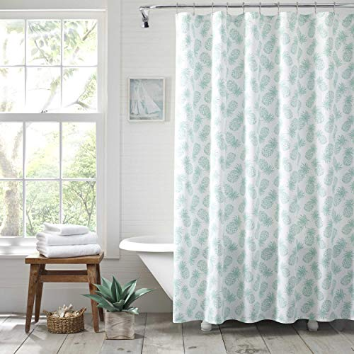 Tommy Bahama Pineapple - Tommy Bahama Tossed Pineapple Shower Curtain 72x72 Pastel Blue