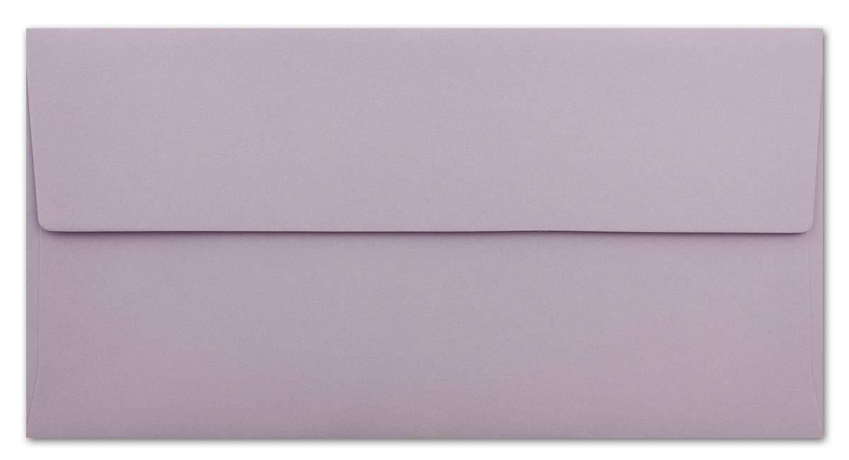 120 g//m/² Haftklebung Standard Brief-Kuverts f/ür Einladungen Ihr Gl/üxx-Agent 25 DIN Lang Brief-Umschl/äge Flieder Gru/ßkarten 11 x 22 cm