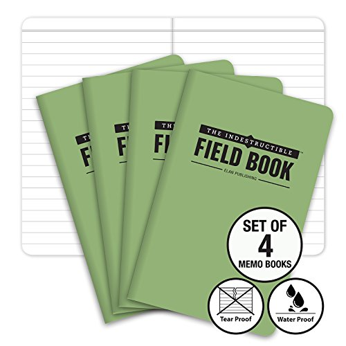Green Note Notebook (The Indestructible, Waterproof, Tearproof, Weatherproof Field Notebook - 3.5