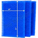 Dynamic Air Cleaner Replacement Filter Pads 21 1/2 x 23 1/2 Refills (3 Pack)