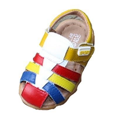 2bf7c99ee7c09 Ohmais Enfants Chaussure bebe garcon premier pas Chaussure premier pas bébé  sandale en cuir souple