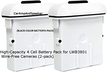 LOREX Wireless Cameras, Battery Pack 4 Cell for LWB3801 Wire-Free Cameras (2