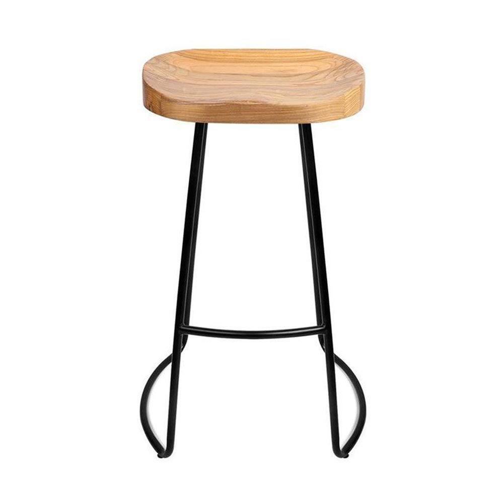 T1 65cm high CJC Bar Stools Seat Industrial Style Vintage Rustic Kitchen Pub Patios Breakfast (color   T2, Size   45cm high)