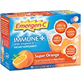 Emergen-C Immune+ (30 Count, Super Orange Flavor) System Support Dietary Supplement Fizzy Drink Mix With Vitamin D, 1000mg Vitamin C plus Antioxidants & Electrolytes, 0.33 Ounce Packets