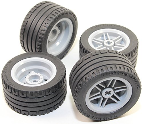 LEGO-8pc-Technic-Wheel-and-Tire-SET-Mindstorms-nxt-ev3-tyre-56145-44309