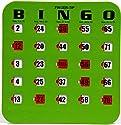 25パック再利用可能なfinger-tipシャッタースライダBingoカード(グリーン)
