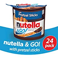 Nutella and Go Snack Packs, Chocolate Hazelnut Spread with Pretzel Sticks, 1.9 Ounce,24 Count